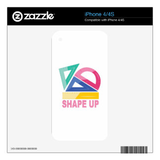 Shape Up Decals For iPhone 4
