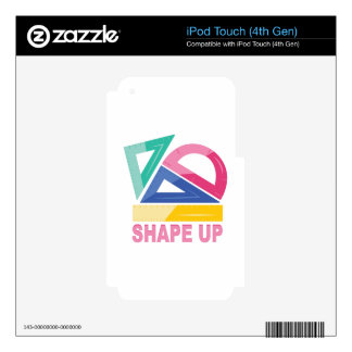 Shape Up Decals For iPod Touch 4G