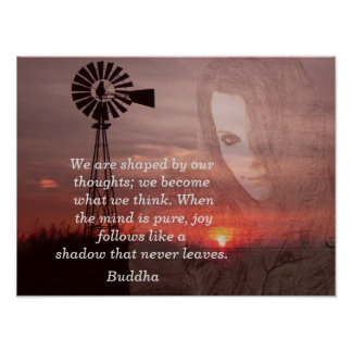 "Shaped by our thoughts"" -Buddha quote - art print"