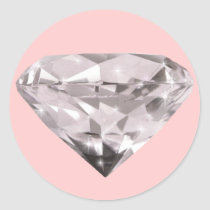 shaped diamonds pattern classic round sticker