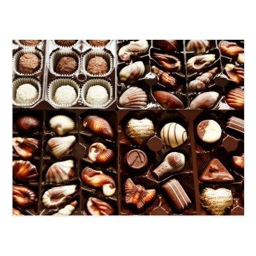 Valentines Themed Shaped, Gourmet Chocolate Truffles Postcard