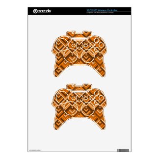 shaped memory of the 60s brown orange xbox 360 controller skin
