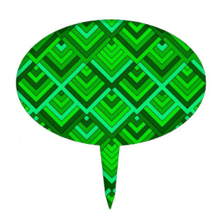 shaped memory of the 60s green cake toppers