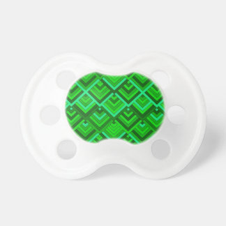 shaped memory of the 60s, green baby pacifier