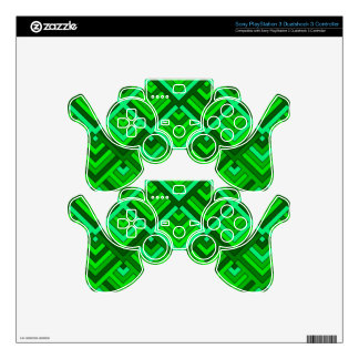 shaped memory of the 60s, green PS3 controller skins