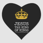[Crown]  jesus  the king  of kings   [Crown]  jesus  the king  of kings  Shaped Stickers