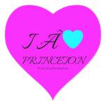 i  [Love heart]   princeton &  roc royal i  [Love heart]   princeton  Shaped Stickers