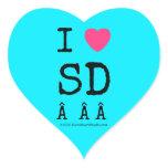 i [Love heart]  sd    i [Love heart]  sd    Shaped Stickers
