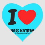 i [Love heart]  bhess katrina i [Love heart]  bhess katrina Shaped Stickers