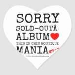 sorry sold-out album [Love heart]  this is chic boutique mania [Electric guitar]   sorry sold-out album [Love heart]  this is chic boutique mania [Electric guitar]   Shaped Stickers