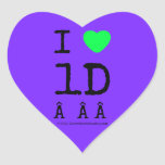 i [Love heart]  1d    i [Love heart]  1d    Shaped Stickers