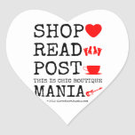 shop [Love heart]  read [Feet]  post [Cup]  this is chic boutique mania [Electric guitar]   shop [Love heart]  read [Feet]  post [Cup]  this is chic boutique mania [Electric guitar]   Shaped Stickers