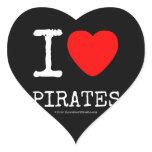 i [Love heart]  pirates i [Love heart]  pirates Shaped Stickers