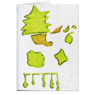 Shapes A Christmas Expression Card