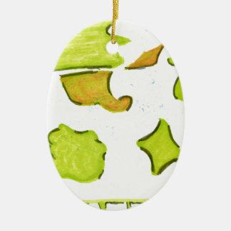 Shapes A Christmas Expression Ceramic Ornament