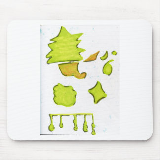 Shapes A Christmas Expression Mouse Pad