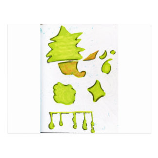Shapes A Christmas Expression Postcard