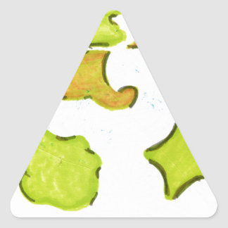 Shapes A Christmas Expression Triangle Sticker