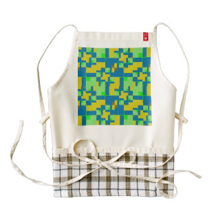 Shapes abstract design zazzle HEART apron