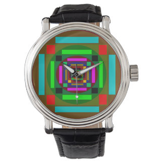 Shapes and Colors Art Wristwatches