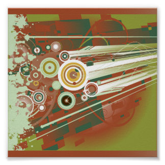 Shapes and Splatter Posters