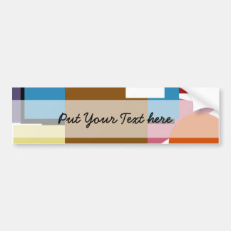 Shapes In colors - Customized Bumper Stickers