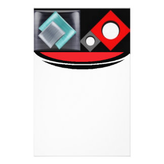 Shapes in red and black stationery
