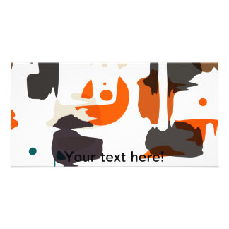 Shapes in retro colors abstract design card