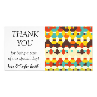 Shapes in retro colors card