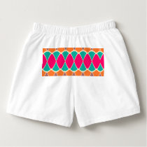 Shapes in retro colors pattern boxers