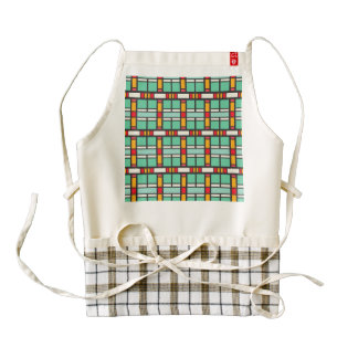 Shapes in retro colors pattern zazzle HEART apron