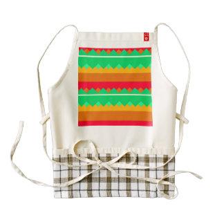 Shapes in retro colors zazzle HEART apron