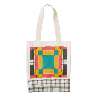 Shapes in retro colors zazzle HEART tote bag