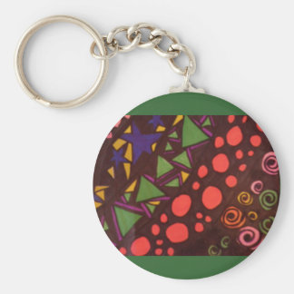 Shapes in Space Keychain