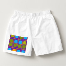 Shapes in squares pattern boxers