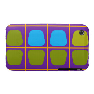 Shapes in squares pattern iPhone 3 case