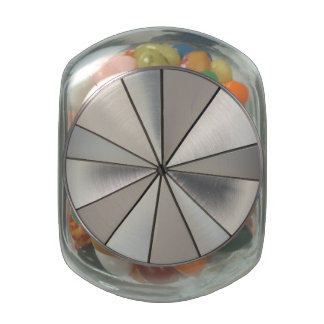 Shapes In Steel Glass Jars
