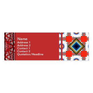 Shapes Inverted Rotated Double-Sided Mini Business Cards (Pack Of 20)