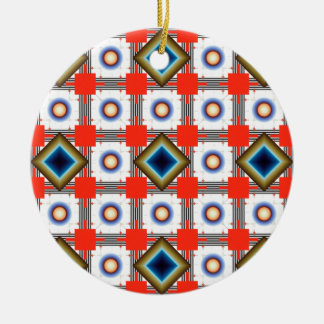 Shapes Inverted Rotated Ceramic Ornament