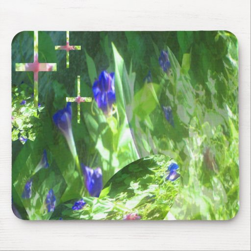 Shapes of Peace in Mamaw's Garden by JudyMarisa200 Mouse Pad