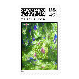 Shapes of Peace in Mamaw's Garden by JudyMarisa200 Postage Stamp