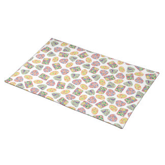 Shapes on Shapes White Cloth Placemat