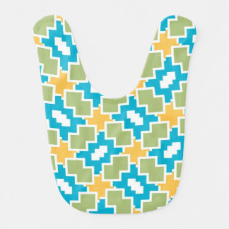 Shapes pattern bibs
