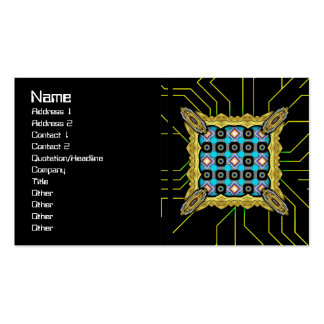 Shapes Rotated Double-Sided Standard Business Cards (Pack Of 100)