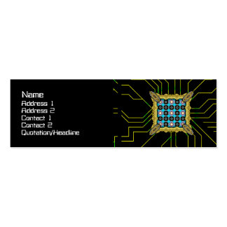 Shapes Rotated Double-Sided Mini Business Cards (Pack Of 20)