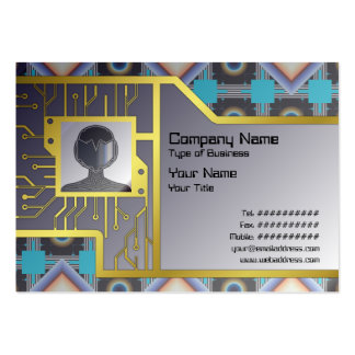 Shapes Rotated Large Business Cards (Pack Of 100)