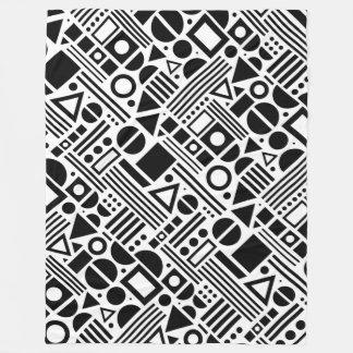 Shapes, Shapes and more Shapes Fleece Blanket