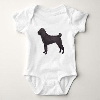 Shar Pei Basic Design Templates Baby Bodysuit