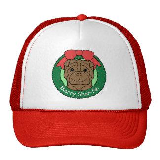 Shar-Pei Christmas Hats