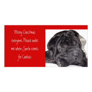 Shar pei Christmas -Please wake... Card
